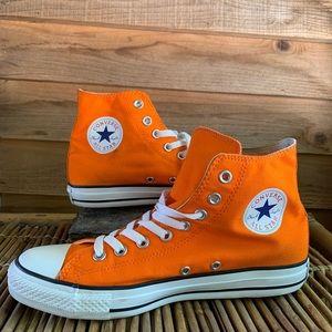Converse Orange All Stars Hi-Tops
